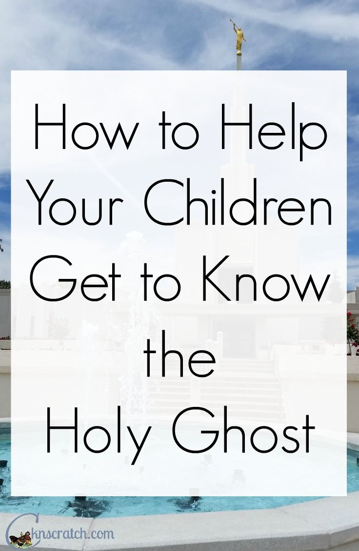 Excellent idea for helping older children develop a relationship with the Holy Ghost!