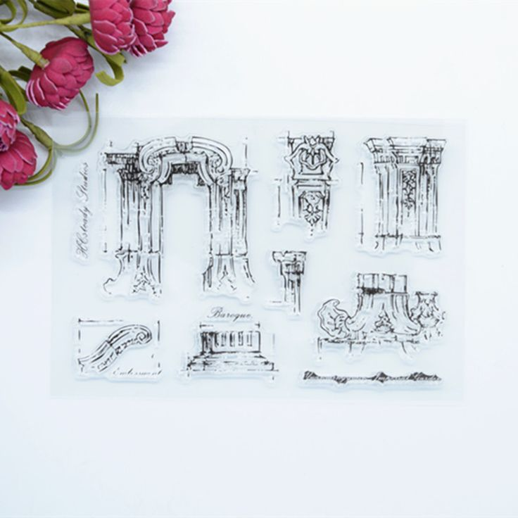 WYF420  11x16cm  The old summer palace brand new  Scrapbook DIY Photo Album Account Transparent Silicone Rubber Clear Stamps