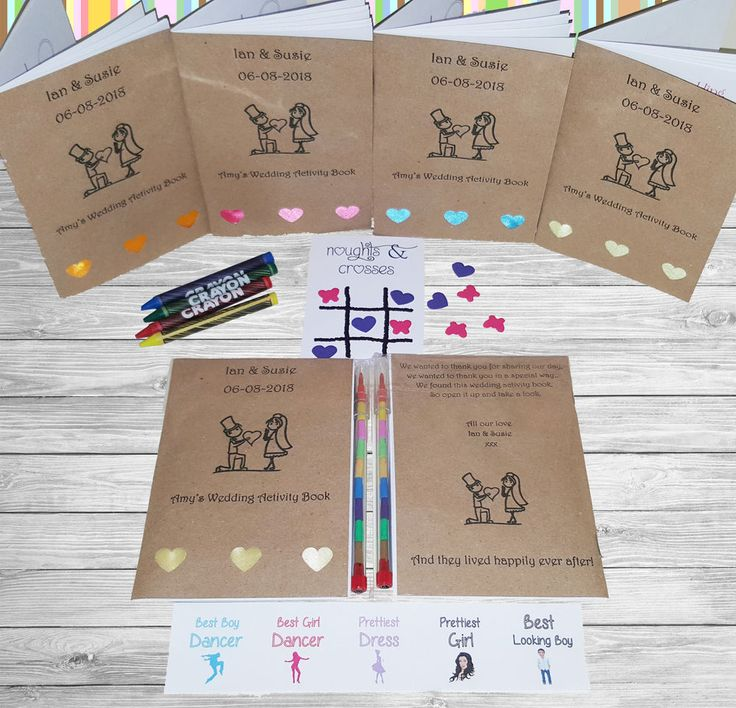 This childrens activity booklet is a wonderful addition to your wedding table. It comprises of 24 staple bound activity pages such as a wordsearch, crossword, noughts & crosses, hangman, colouring pages, math puzzle, word games and much much more. | eBay!