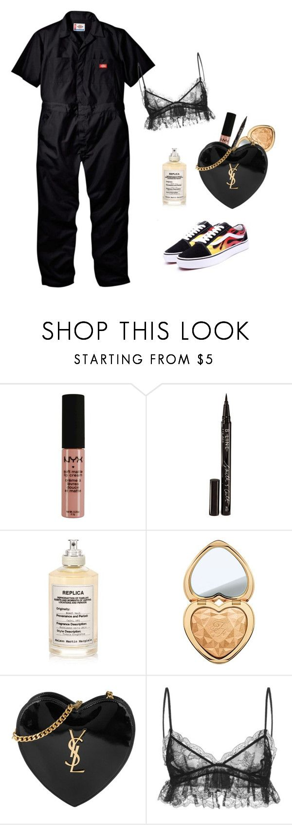 """Skepta : Banned from America Tour"" by eyelinerxbaddecisions ❤ liked on Polyvore featuring NYX, Smith & Cult, Maison Margiela, Too Faced Cosmetics, Yves Saint Laurent and Giambattista Valli"