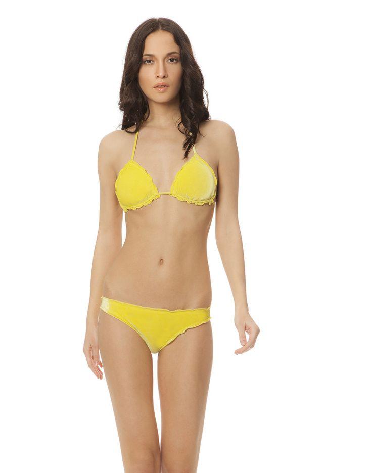 MAYA SOFT TRIANGOLO LIME #paradisebeachwear #bikini #beachwear #style #fashion #sun #sea #beach #fun #love #friends #woman #apparel #summer #soft #yellow #lime #giallo