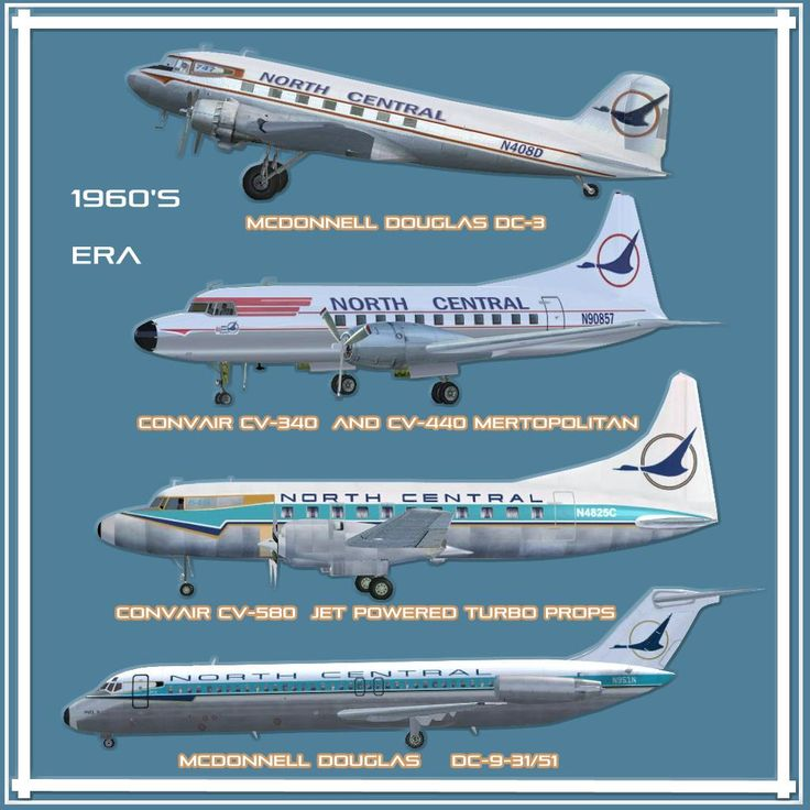 17 Best Images About North Central Airlines On Pinterest