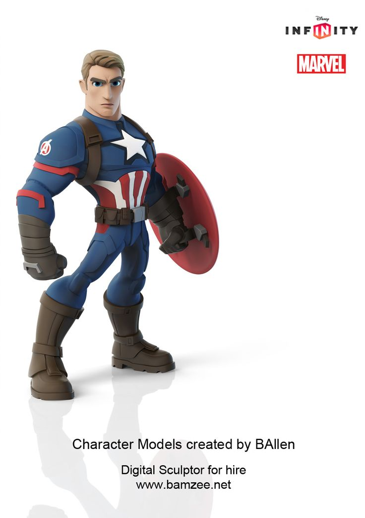 BAllen modeled the Captain America Civil War  character for Disney Infinity.