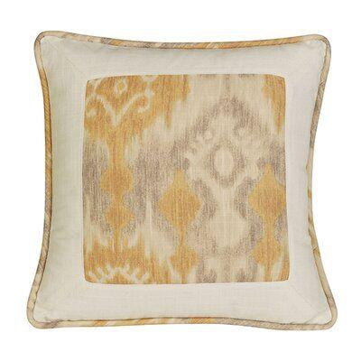Bloomsbury Market Cynda Ikat And Ogee Pillow Pillows Throw Pillows Bed Printed Cushions