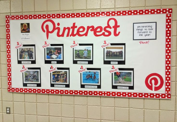 Pinterest Classroom Bulletin Board Idea. From Marci Coombs' Blog
