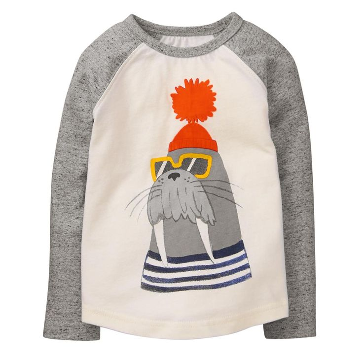 Toddler Boy Ivory Walrus Tee by Gymboree