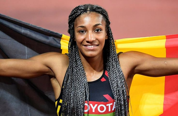 "Congratulations to Nafi Thiam winning the women's heptathlon at the Athletics World Championships in London, becoming the first Belgian world champion in athletics ever. The 22-year-old has the world at her feet, after an impressive triple: Olympic Champion, the 7,000-points mark in Götzis, and World Champion. "" #admirebelgium #NafiThiam #London #gold"
