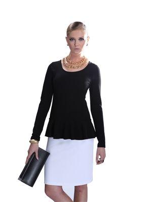 Siyah Peplum Elbise