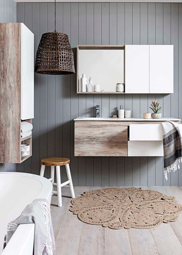White takes a backseat to this soft, relaxed bathroom |Home Beautiful Magazine Australia