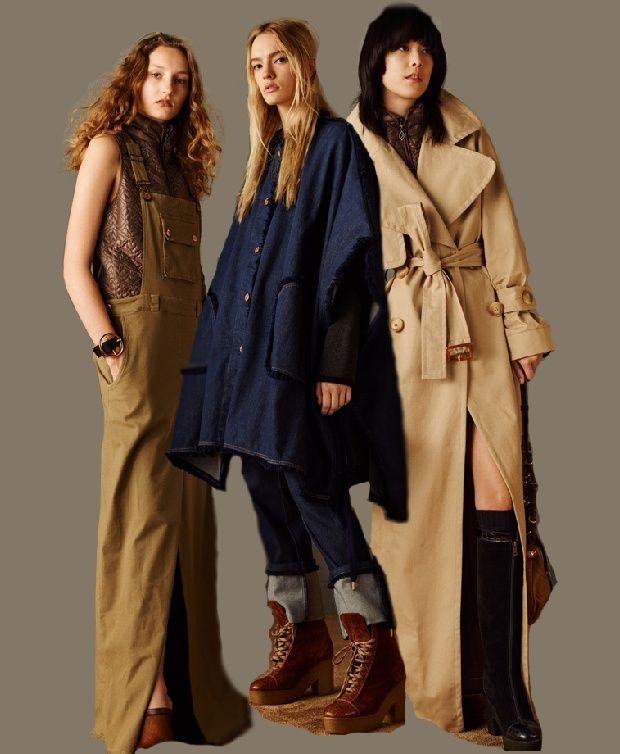 Модные тенденции Осень Зима 2016 2017 от See by Chloe - модный показ Pre-Fall 2016: обувь, пальто, повседневная, деловая, офисная женская одежда - фото