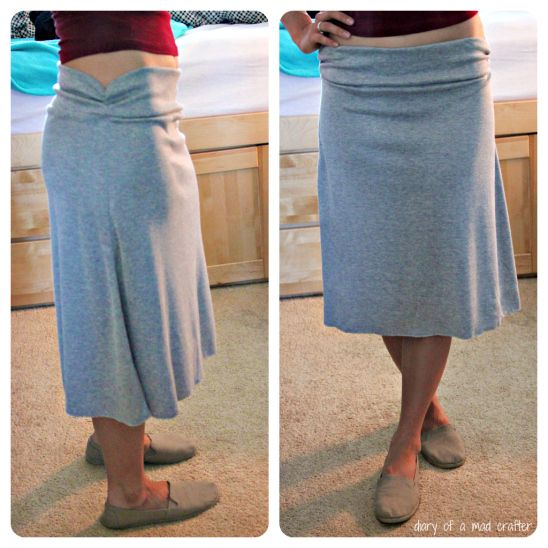 This woman is amazing! She made a super cute and comfy homemade skirt! She has tons of other home made clothing, as well as different crafts :)
