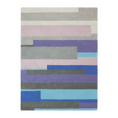 Contemporary woven rug in different shades band together in a fun rug with a striking pattern.