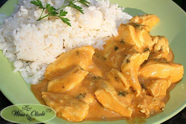Piersi z kurczaka w sosie curry