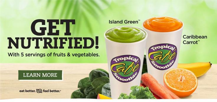 Tropical Smoothie Cafe in Glen Mills, PA serves vegan food!