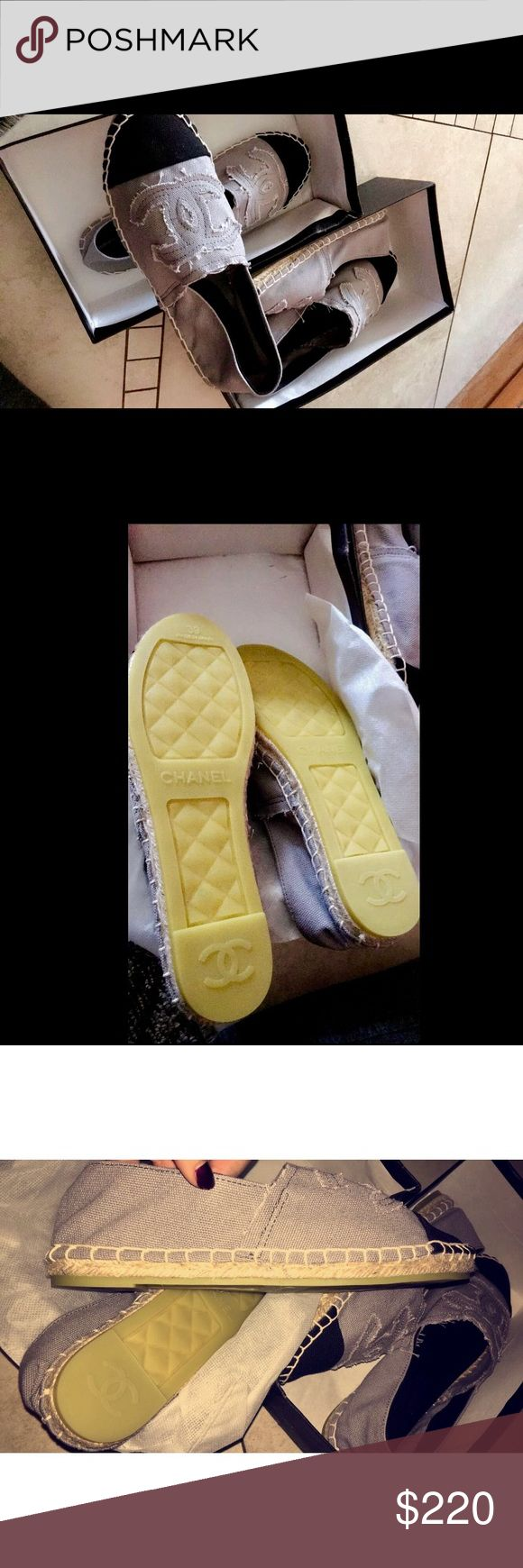 💜 CHANEL ESPADRILLES!!! One pair left, size is TRUE US 8 women! 💜 price reflects authenticity. Selling the purple not black CHANEL Shoes Espadrilles