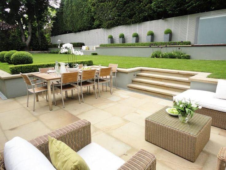 Large split level family garden design, Wimbledon | Sunken ... on Split Level Backyard Ideas id=66809