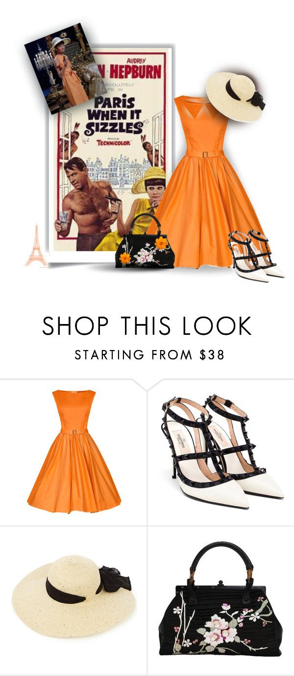 paris when it sizzles in orange black by maison de forgeron liked on polyvore featuring. Black Bedroom Furniture Sets. Home Design Ideas