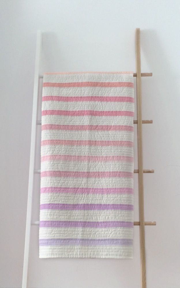 Sherbet Stripe Quilt / one of one