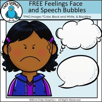 The girl in this clip art set is feeling angry!  Hopefully you'll feel differently when downloading this FREE set of emotions clip art images!  It contains the following 7 parts:angry girl (color, blackline, black and white)speech bubble (blackline, white/color)thought bubble (blackline, white/color)Click on the Preview button for a closer look at the images!