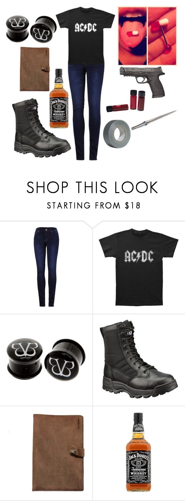 """""""Siren Hunting Trip"""" by syeatts on Polyvore featuring 2LUV, AC/DC, Hot Topic, Original S.W.A.T., Smith & Wesson and Kjøre Project"""