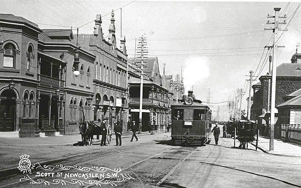 Tram in Scott St Newcastle NSW.