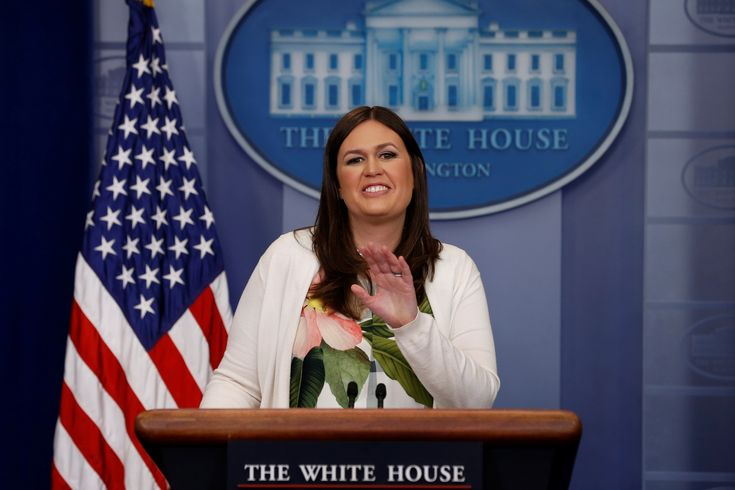 White House press secretary Sarah Huckabee Sanders -  White House Deputy Press Secretary Sarah Huckabee Sanders holds the daily briefing at the White House in Washington, DC, U.S. June 5, 2017. REUTERS/Jonathan Ernst