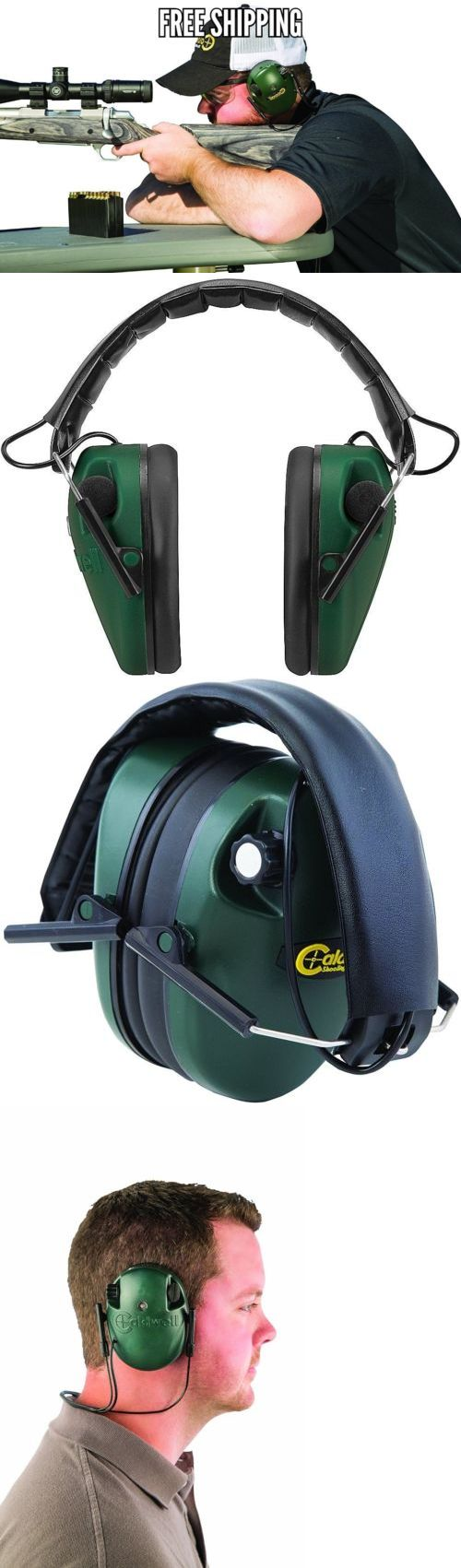 Hearing Protection 73942: Green Electronic Ear Muffs Low Profile Shooting Hearing Sport Leight Protection -> BUY IT NOW ONLY: $34.9 on eBay!