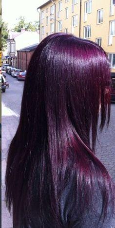 lvres sombres belle demoiselle soins beaut enfants coiffures sombre couleur de cheveux pourpre magenta couleur prune couleurs pourpres - Coloration Prune Exquise