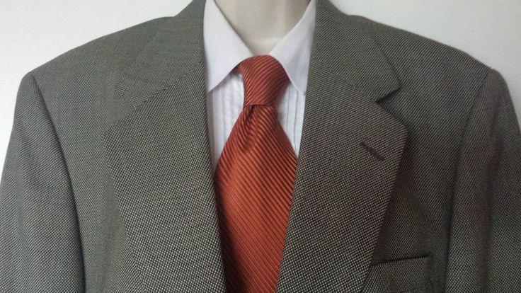 Tom James Blazer Men's Sport Coat Jacket 100% Wool Size 44R  #TomJames #TwoButton