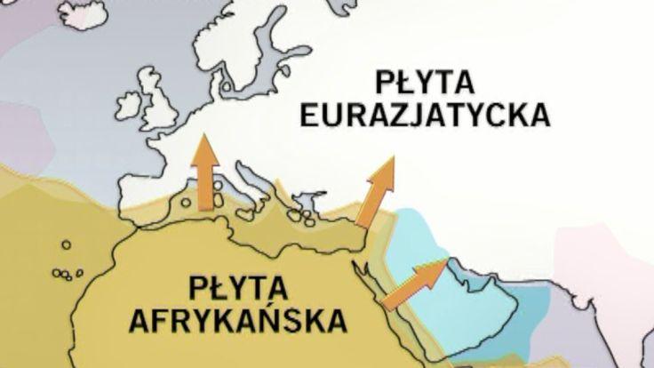 Ruch płyt tektonicznych w Europie