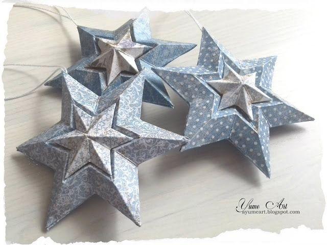 UHK Gallery - inspiracje: Christmas TREE decorations - świąteczne gwiazdki - tutorial
