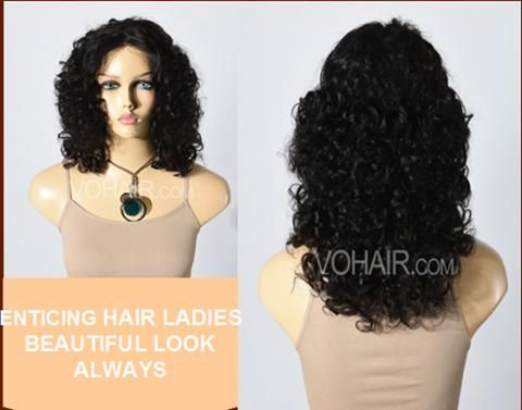 Public Stats 100% INDIAN REMY HAIR SILK TOP LACE FRONT WIGS TIGHT SPIRAL CURL @vohair.com