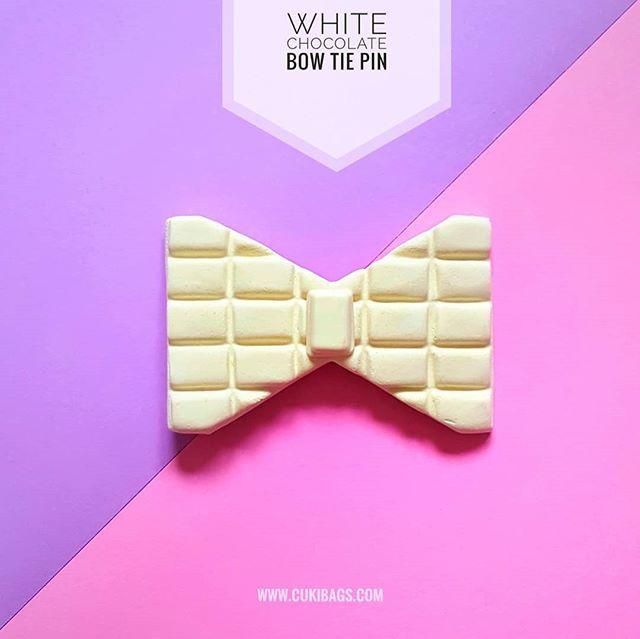 White Chocolate Midnight Cravings  unisex bow tie pin.