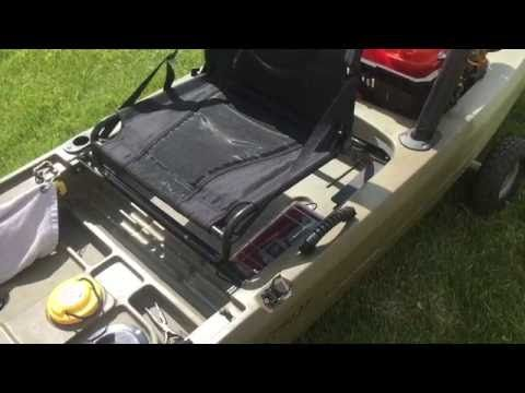 I Describe My Version Of The Popular Seat Raise Mod On Ascend Fishing Kayak With Addition Side Gear Pouches