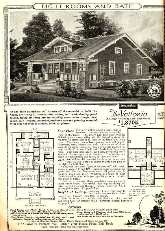 Superb Sears Vallonia From The 1916 Catalog. The Original Layout
