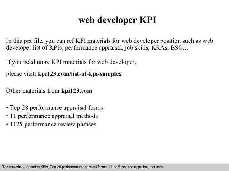 The 25+ best Web developer cv ideas on Pinterest Web developer - web developer job description