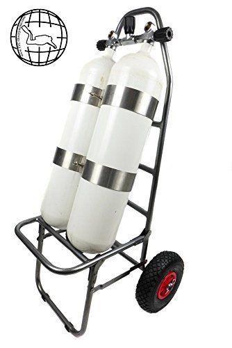 Tec-divesysteme Chariot de transport pour Bouteilles de plongée: Tec-divesysteme Chariot de transport pour Bouteilles de plongée – Fixez…
