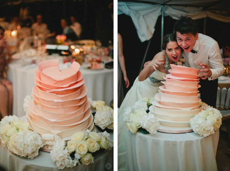 Beautiful @Buonissimo Magazine, Romania, wedding cake inspired by @100 Layer Cake