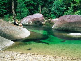 Babinda Boulders... tropical rainforest, fast flowing creek... sound of rushing water - timeless and peaceful...
