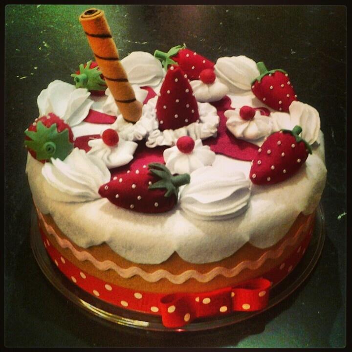 Felt cover cake