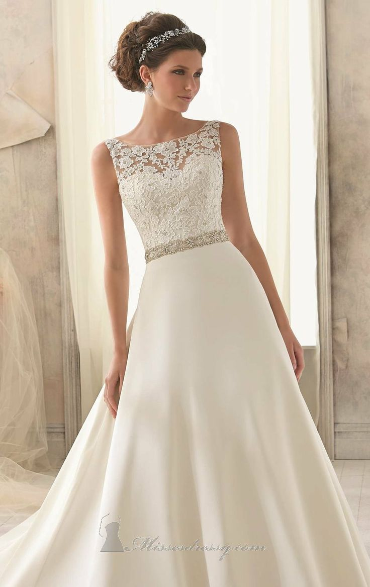 Beaded Bateau Neckline Gown by Blu by Mori Lee <3