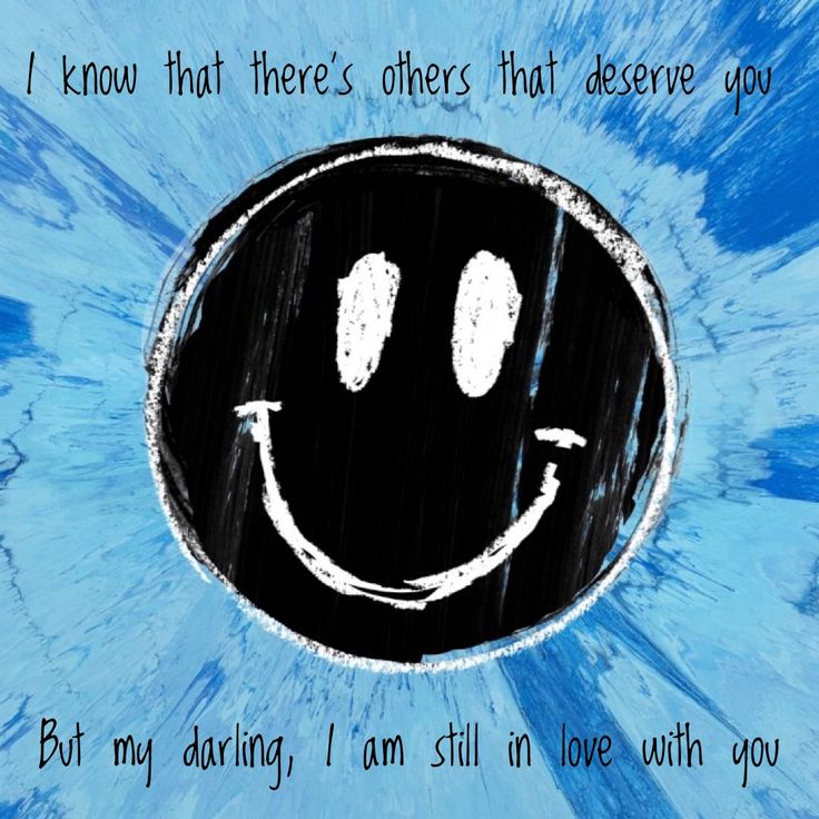 Lyrics by Ed Sheeran - Happier from his album #Divide #2017 #sheerio♥️