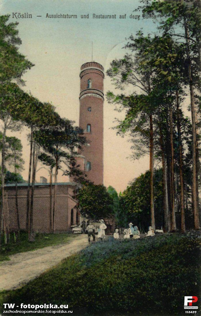 Góra Chełmska (Góra Krzyżanka) (Gollenturm), Koszalin - 1908 rok, stare zdjęcia