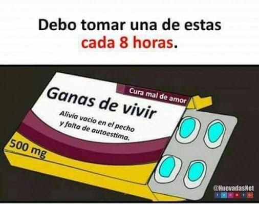 Tengo que tomar de esas pastillas y ver memes todo el día :v - Meme Para más imágenes graciosas y memes en Español visita: https://www.Huevadas.net #meme #humor #chistes #viral #amor #huevadasnet