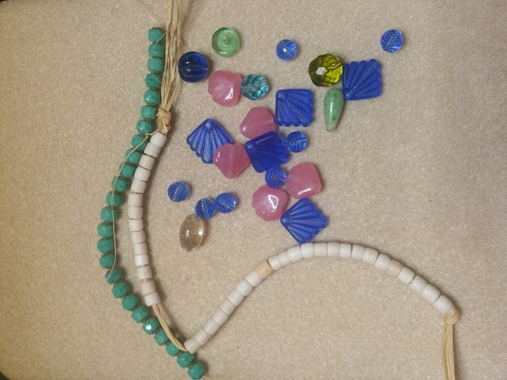 Leanne Loftus and Ann Marie Hodrick were gracious in the beads they sent.  I love the turquoise string from Leanne and the Art Deco blue beads from Ann Marie are speaking to me.  Thank you Ladies and our host Lori McDaniel Anderson.