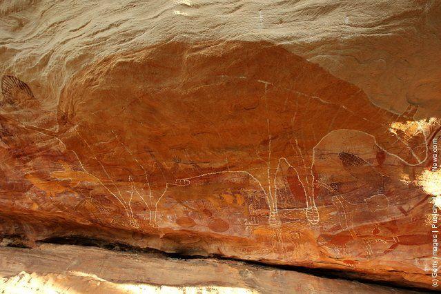 Ancient Aboriginal Artwork Features In Cape York