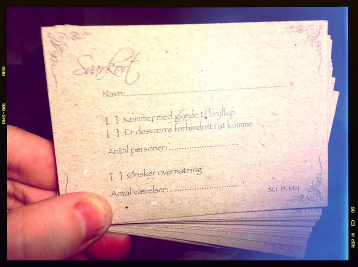 RSVP Card #Wedding #invites #RSVP