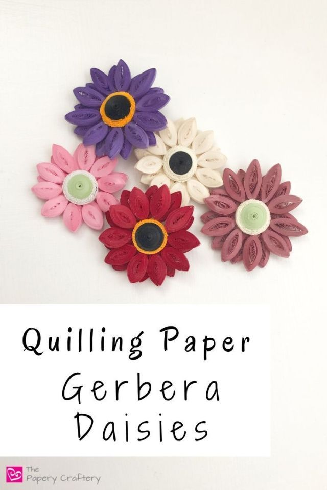 Quilling Paper Gerbera Daisies The Papery Craftery Paper Quilling Designs Quilling Designs Quilling Flower Designs