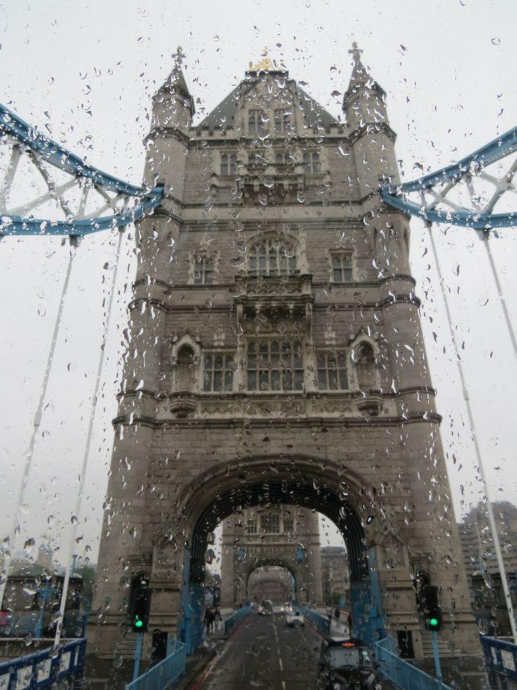 Rainy day. Tower Bridge, London, England