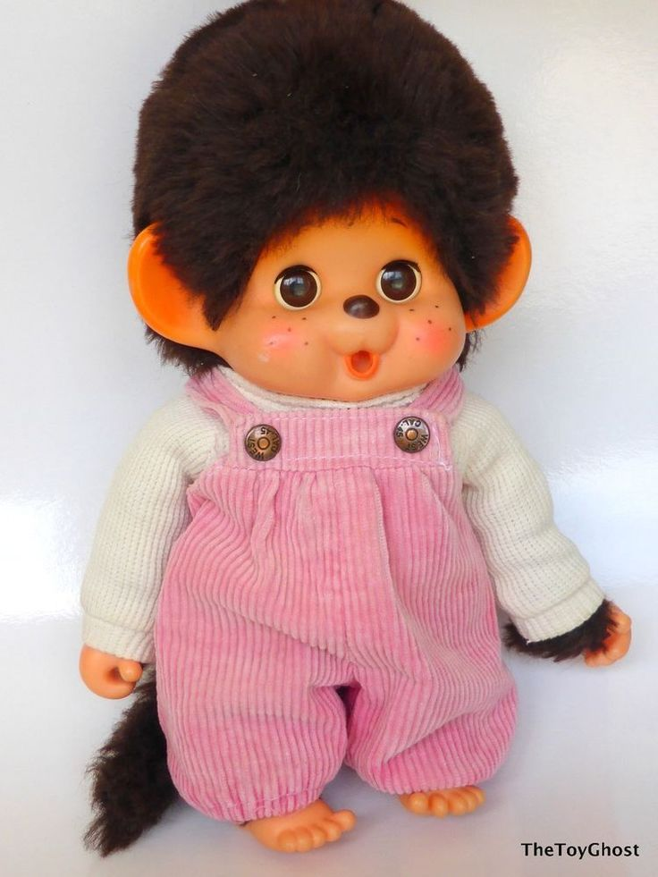 VINTAGE MONCHHICHI KIKKI TOHO JAPAN SLEEPY EYES 30CM LARGE VERY GOOD CONDITION